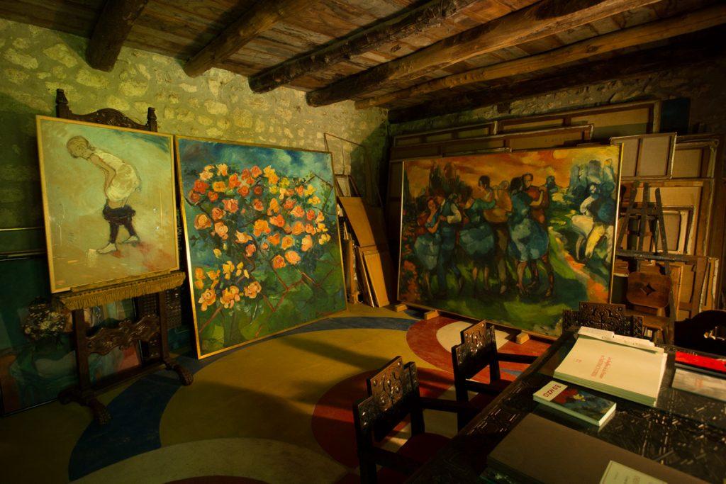 Atelier de Colette Bonzo au Château du Pin.