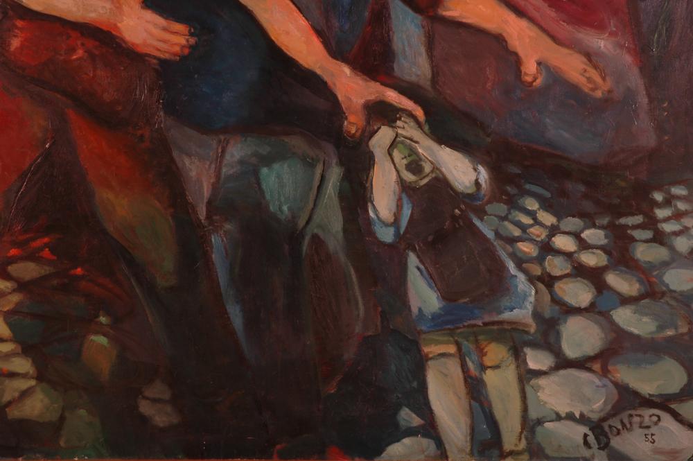 """""""Le Cataclysme"""" (détail), huile sur toile, 200 x 200 cm, 1955."""