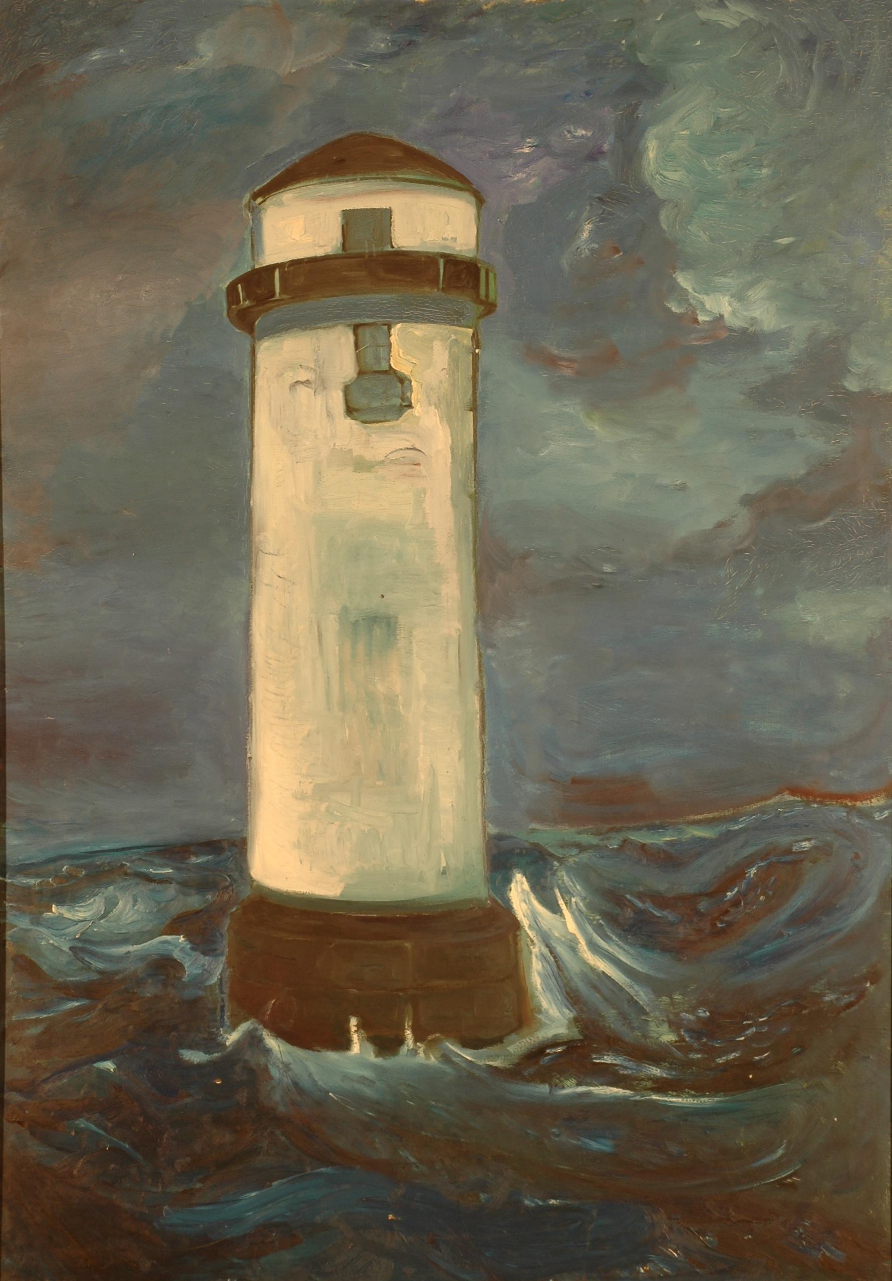 """""""La Sirène de brume"""", huile sur toile, 200 x 130 cm, 1957."""