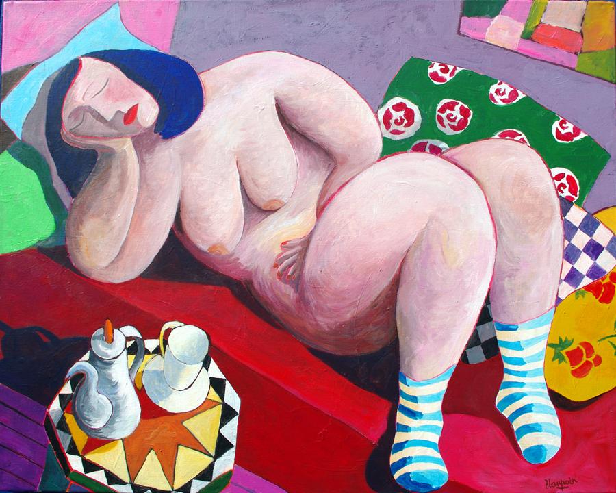"""Jean-Pierre Blanpain, """"La Paresse"""", acrylique sur toile, 2016."""