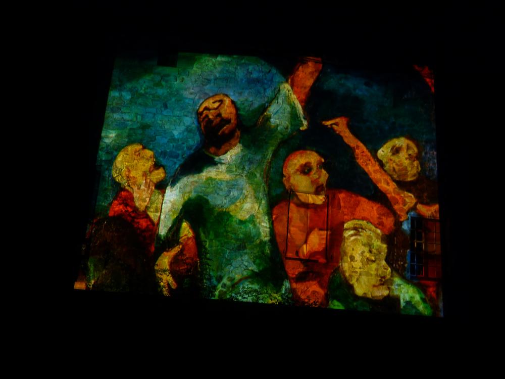 "Collectif, ""Façade Bonzo"", création audiovisuelle, 2011."