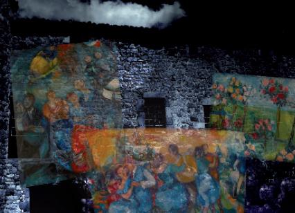 """Façade Bonzo"", création audiovisuelle, 2011."