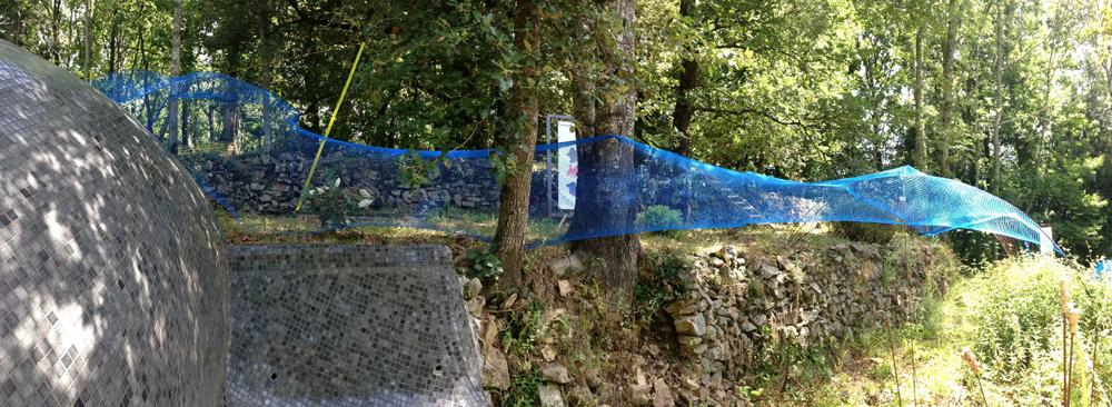 François Seigneur, installation dans les jardins du Pin (détail), 2017.